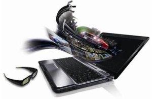 laptop 3d toshiba